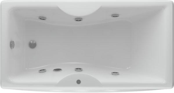 Акриловая ванна Акватек Феникс 180 см с гидромассажем и экраном