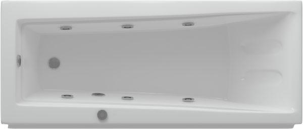 Акриловая ванна Акватек Либра 150 см с гидромассажем и экраном