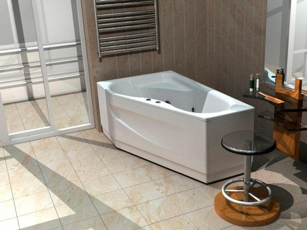 Акриловая ванна Акватек Медея L