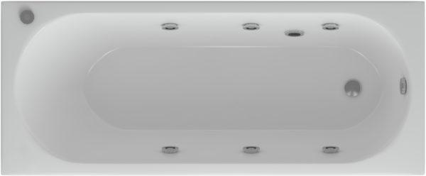 Акриловая ванна Акватек Оберон 160 с гидромассажем и экраном