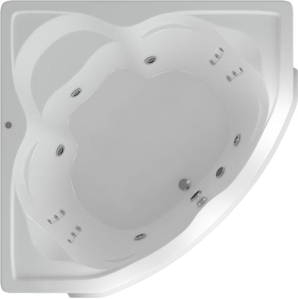 Акриловая ванна Акватек Сириус с гидромассажем и экраном