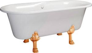 Ванна из искусственного камня Фэма Феррара 2 белая, цветные ножки