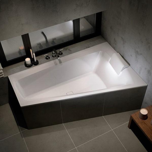 Акриловая ванна Riho Still Smart L 170x110 с подголовником