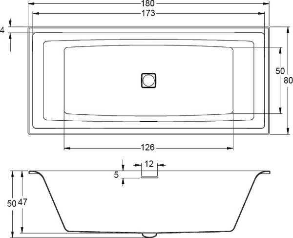Акриловая ванна Riho Still Square 180х80