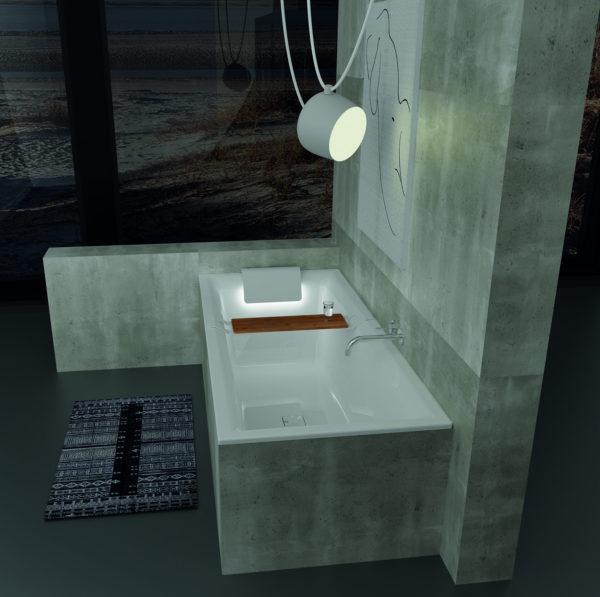Акриловая ванна Riho Still Square 170x75 подголовник слева