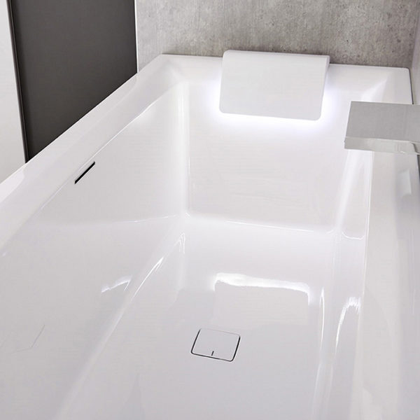 Акриловая ванна Riho Still Square 180x80 подголовник слева