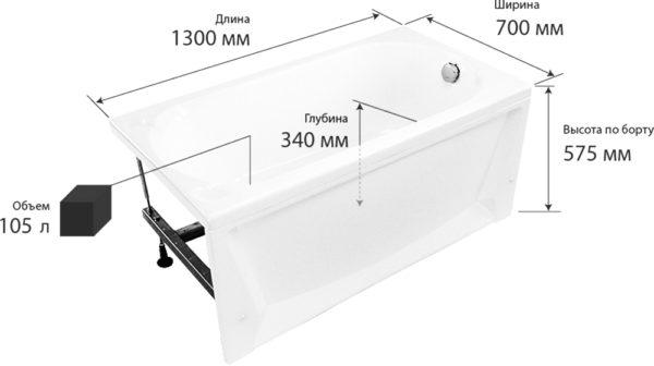Акриловая ванна Triton Лу-Лу