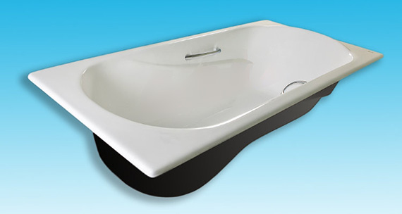 Чугунная ванна Castalia Venera 170х80х42 с ручками