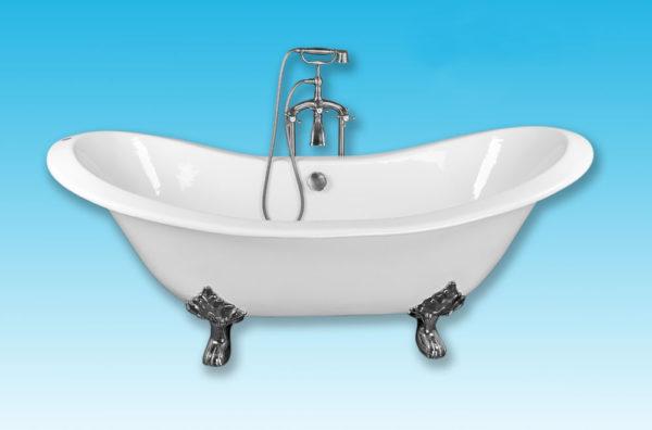Чугунная ванна Elegansa Taiss хромированные ножки