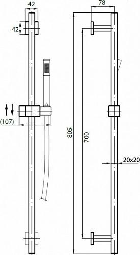 Душевой гарнитур Cezares Quattro SD-01