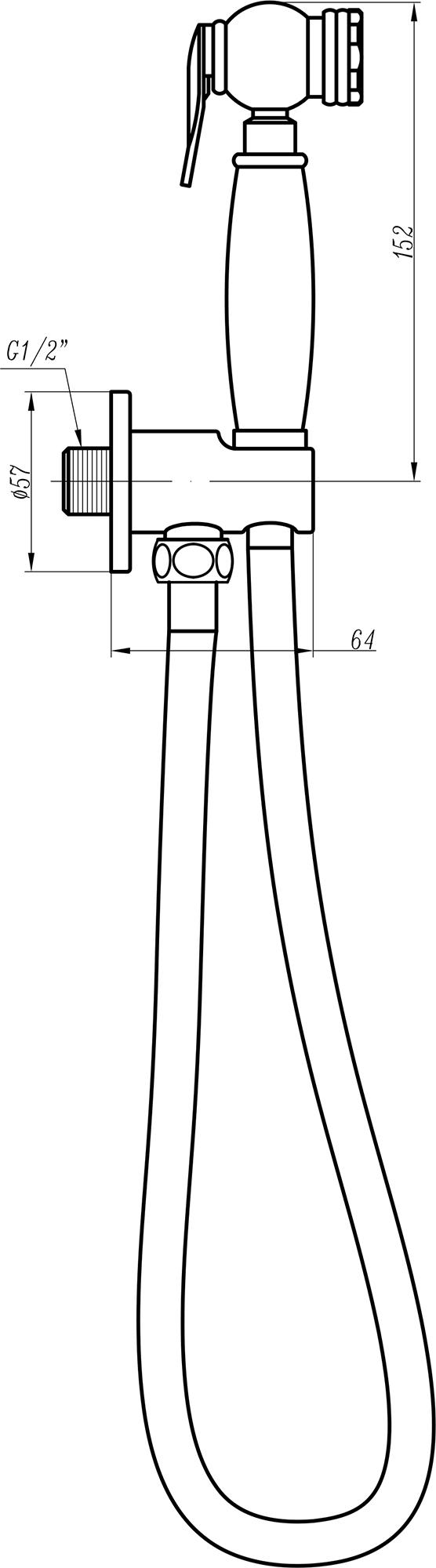 Гигиенический душ Cezares CZR-C-IFSC1-03 золото