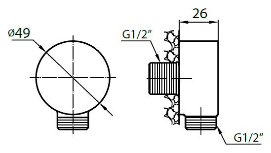 Шланговое подключение Cezares Articoli Vari CZR-AI1-02