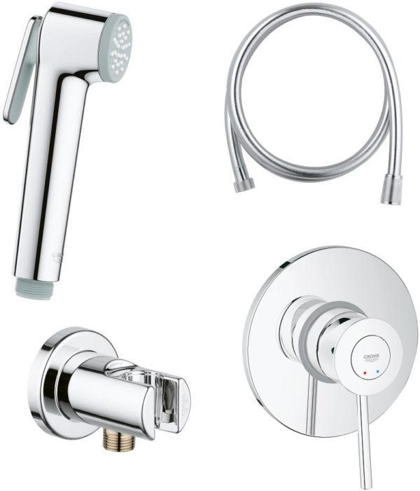 Гигиенический душ Grohe BauClassic 124901 со смесителем