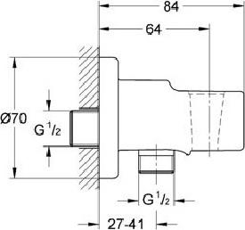 Гигиенический душ Grohe BauCurve 123072 комплект