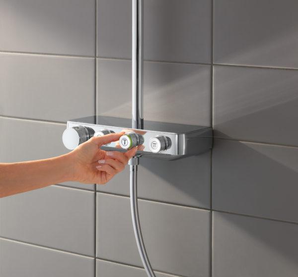 Душевая стойка Grohe Euphoria SmartControl 310 Duo 26507000 с термостатом