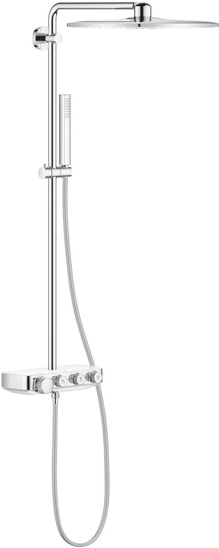 Душевая стойка Grohe Euphoria SmartControl 310 Duo Cube 26508LS0 белая луна, с термостатом