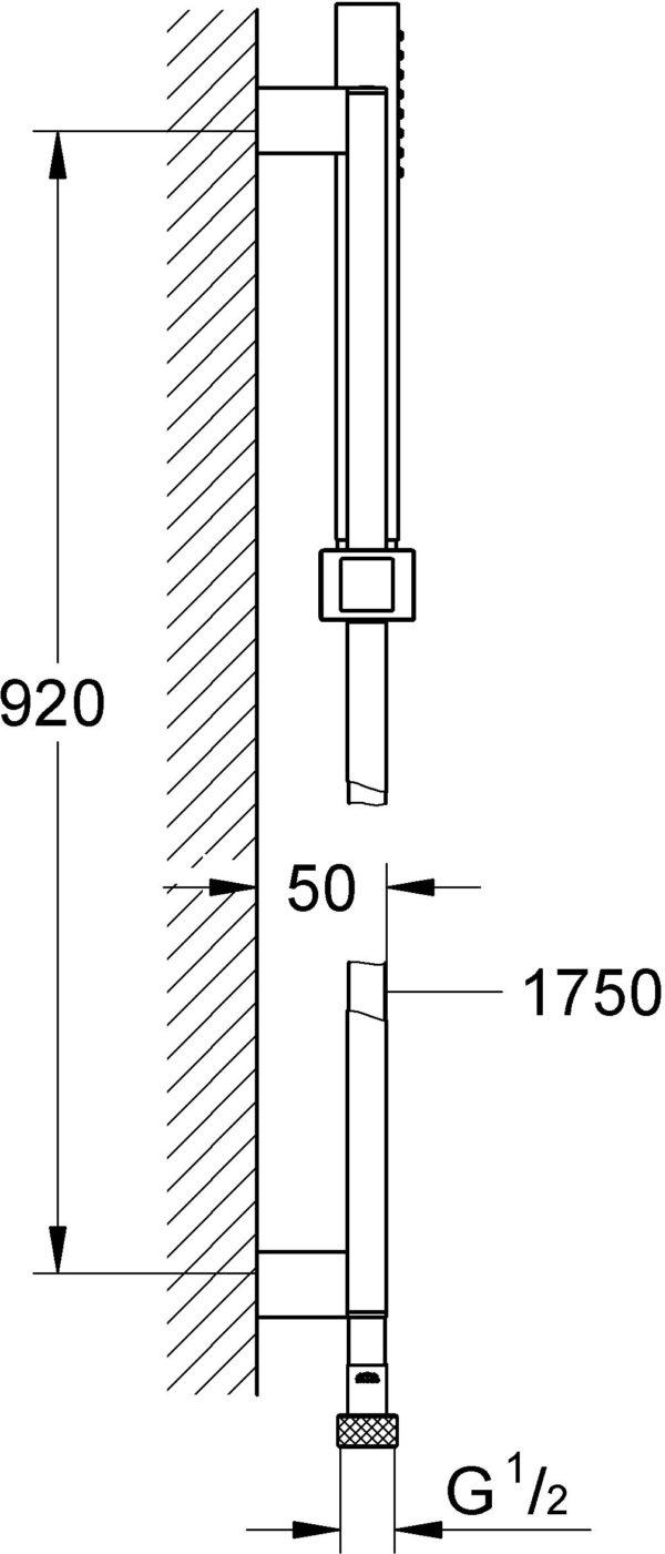 Душевой гарнитур Grohe Euphoria Cube Stick 27700000
