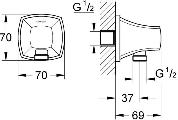 Шланговое подключение Grohe Grandera 27970000
