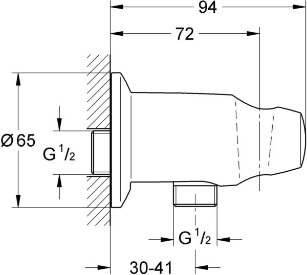 Шланговое подключение Grohe Movario 28406000 держатель для душа