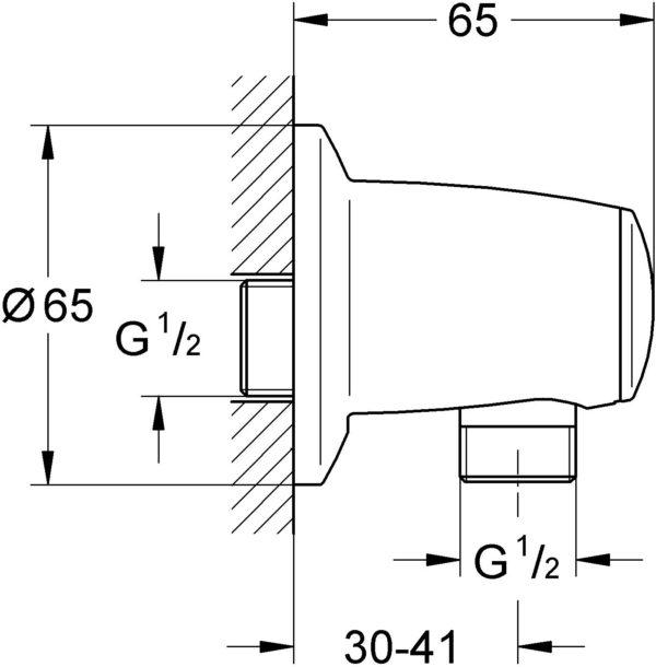 Шланговое подключение Grohe Movario 28405000