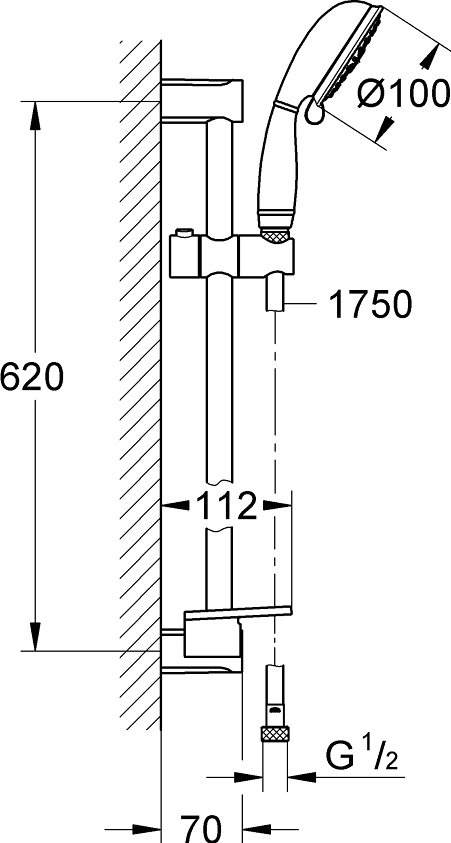 Душевой гарнитур Grohe New Tempesta Rustic 26086001
