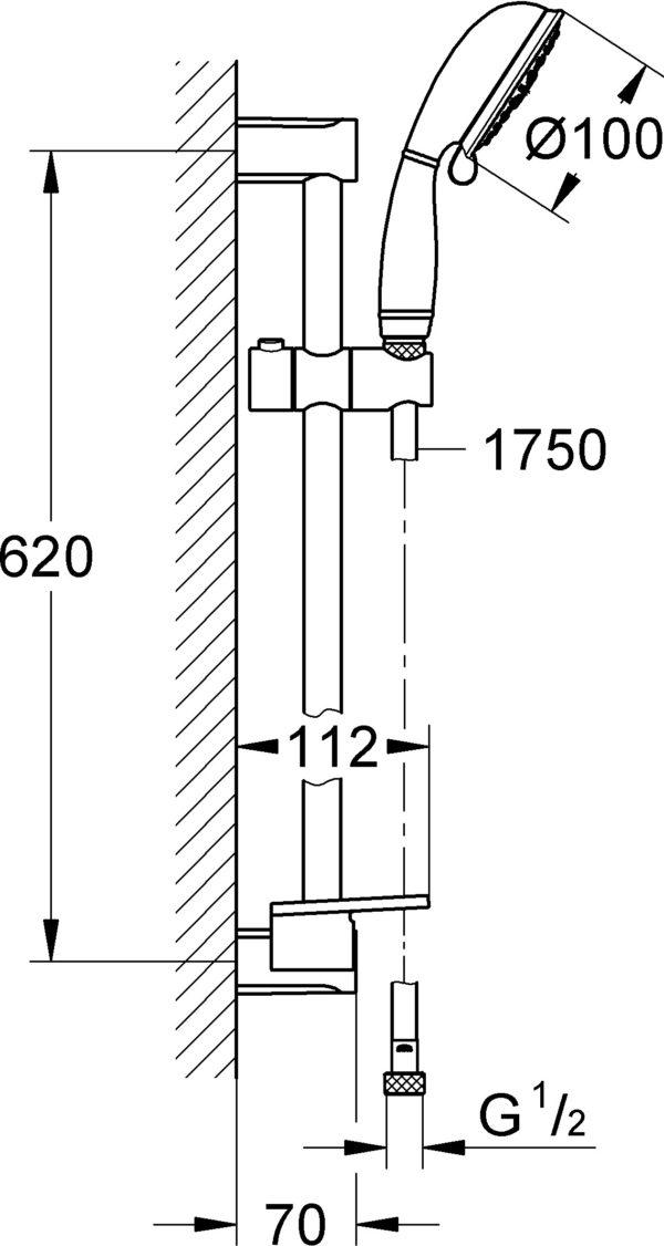 Душевой гарнитур Grohe New Tempesta Rustic 27609001