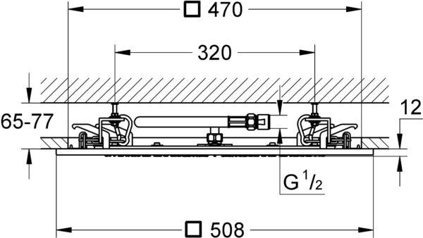 Верхний душ Grohe Rainshower F-Series 20 27286000