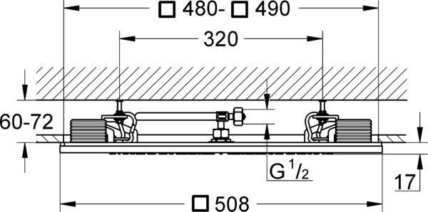 Верхний душ Grohe Rainshower F-Series 20 27865000