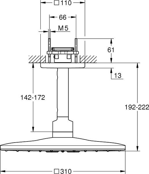 Верхний душ Grohe Rainshower SmartActive Cube 26481000