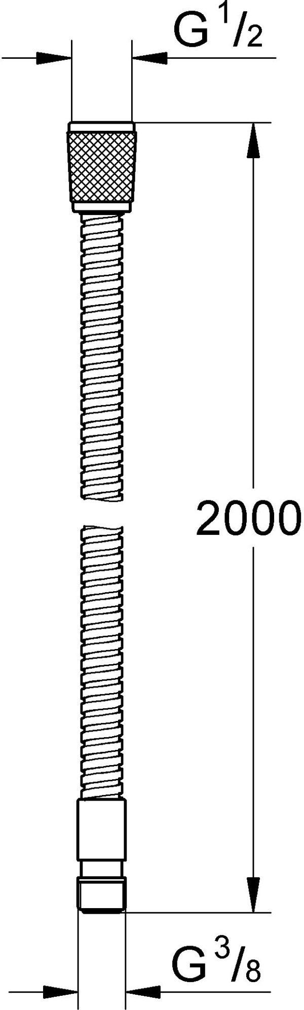 Душевой шланг Grohe Relexaflex 28158000