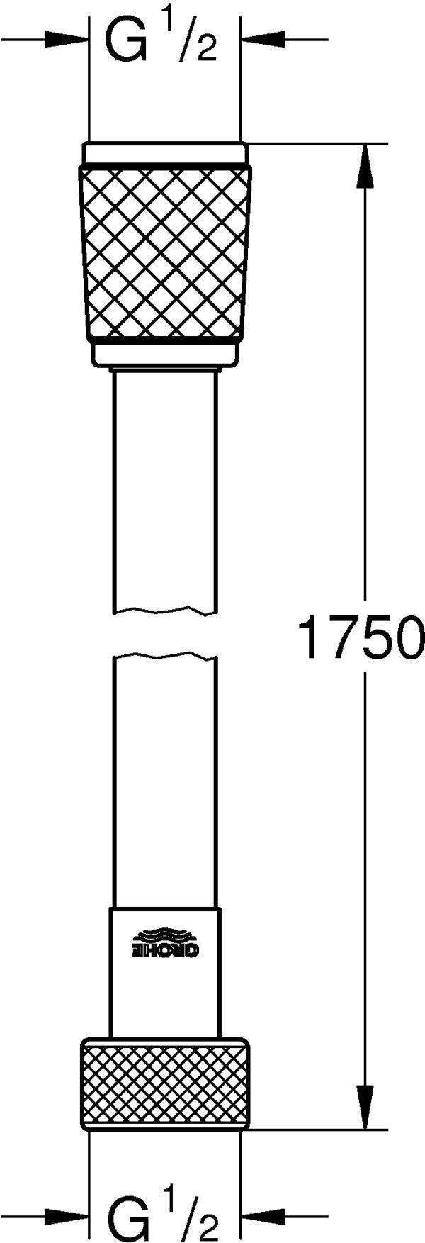 Душевой шланг Grohe Relexaflex 28154001