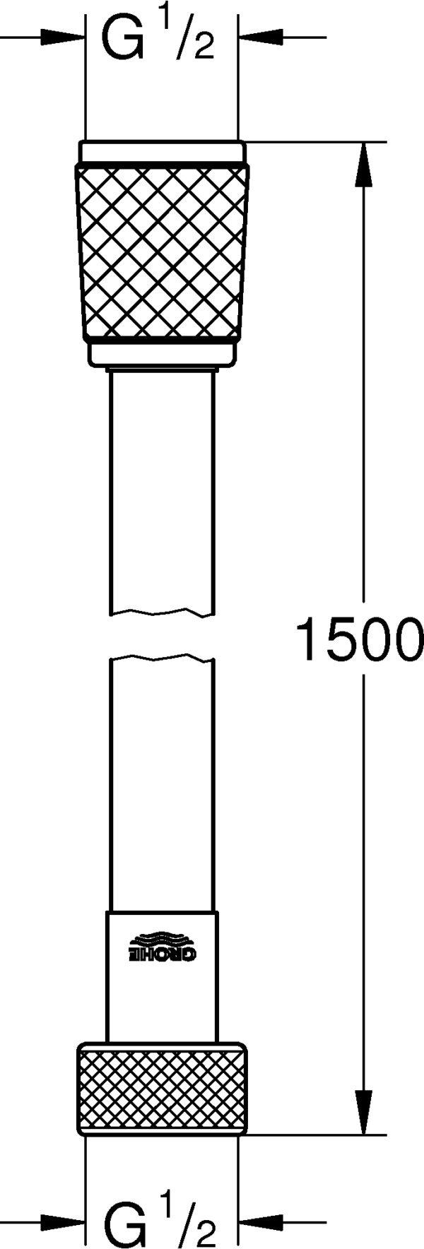 Душевой шланг Grohe Relexaflex 28151001