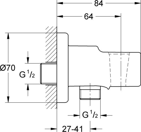 Шланговое подключение Grohe Relexa 28679000 держатель для душа