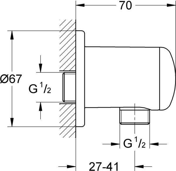 Шланговое подключение Grohe Relexa plus 28671000
