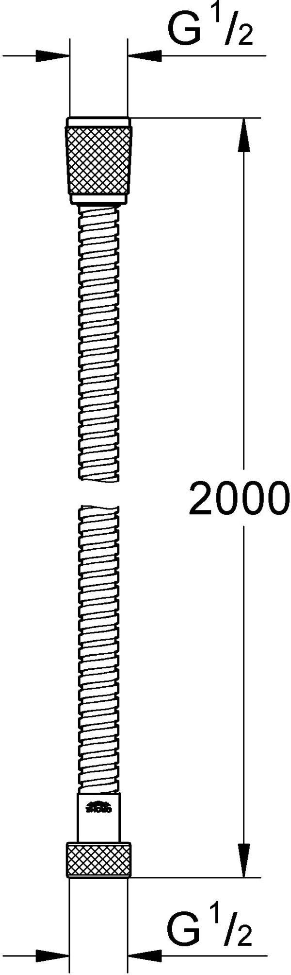 Душевой шланг Grohe Relexa Plus 28145000