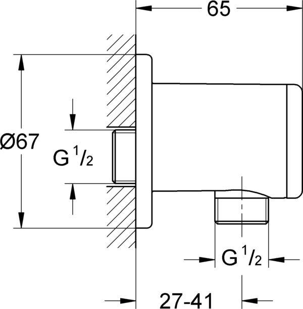 Шланговое подключение Grohe Relexa 28626000
