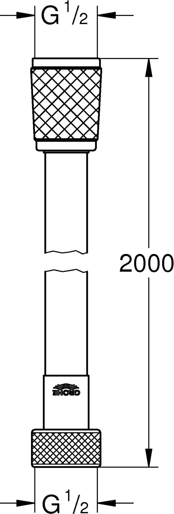 Душевой шланг Grohe Rotaflex 28413001