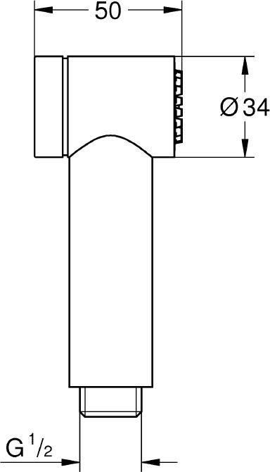 Гигиенический душ Grohe Sena Trigger Spray 35 26328000
