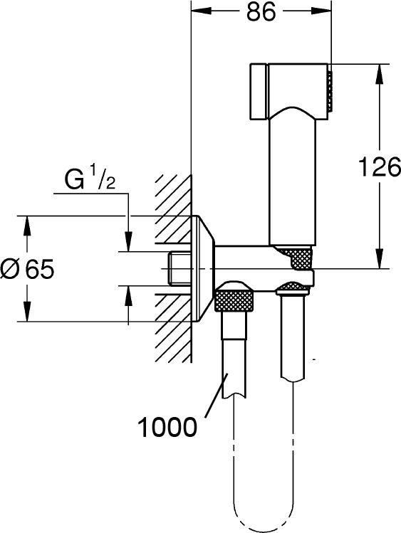 Гигиенический душ Grohe Sena Trigger Spray 35 26329000