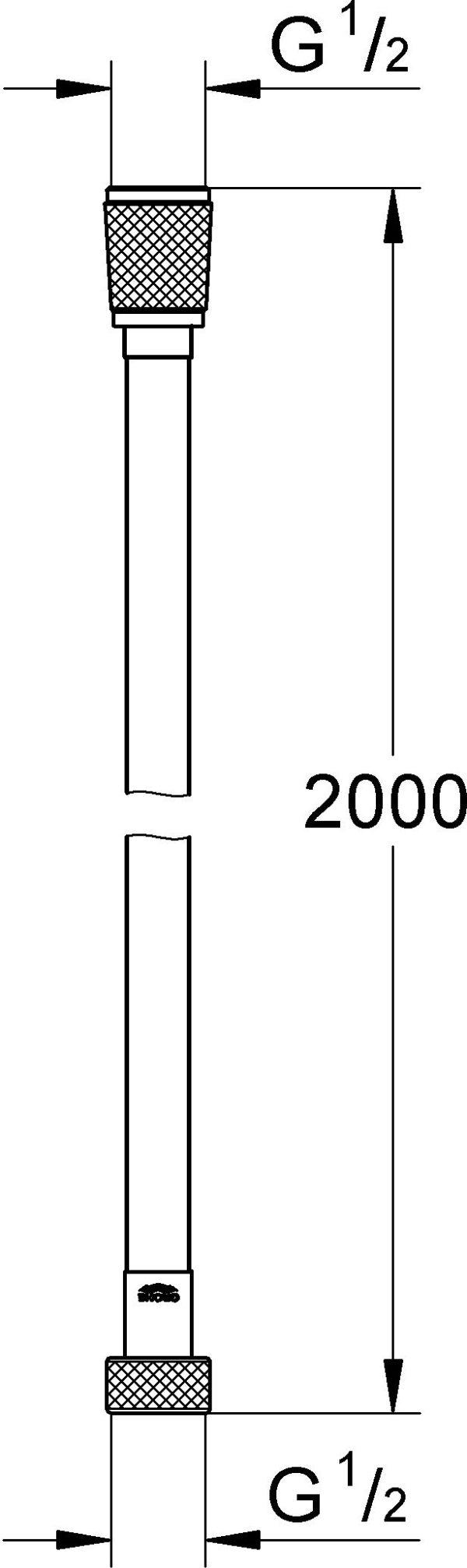 Душевой шланг Grohe Silverflex 27137000
