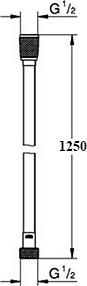 Душевой шланг Grohe Silverflex Longlife 26335000