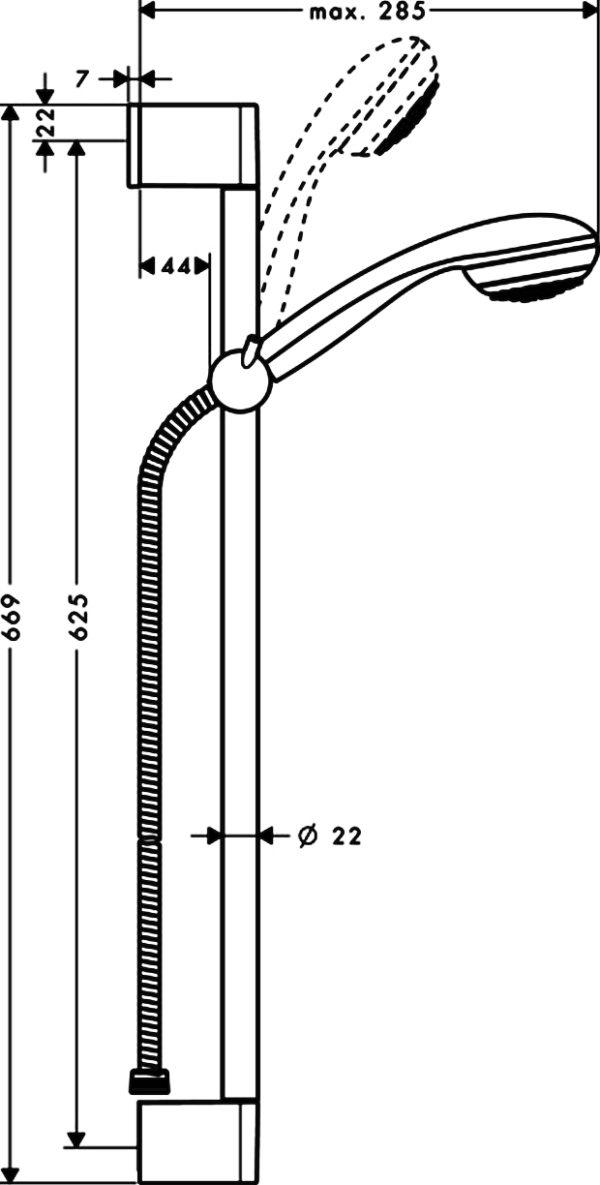 Душевой гарнитур Hansgrohe Crometta 85 27728000 Unica Crometta