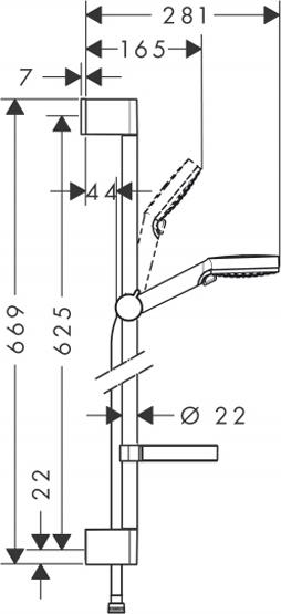 Душевой гарнитур Hansgrohe Crometta Vario 650 26553400 с мыльницей