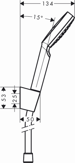 Душевой гарнитур Hansgrohe Crometta 1jet 1,60м 26567400