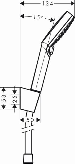 Душевой гарнитур Hansgrohe Crometta Vario 26692400 1,6 м