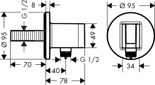 Шланговое подключение Hansgrohe Fixfit Porter S 26487000 держатель для душа
