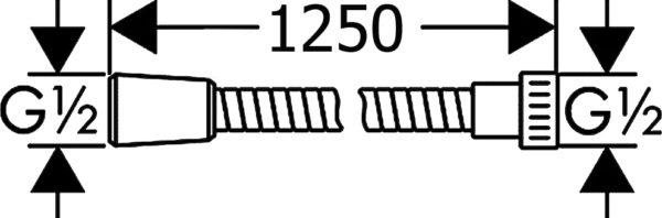 Душевой шланг Hansgrohe Metaflex 28262000