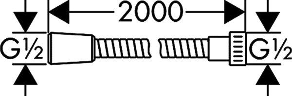 Душевой шланг Hansgrohe Metaflex 28264000