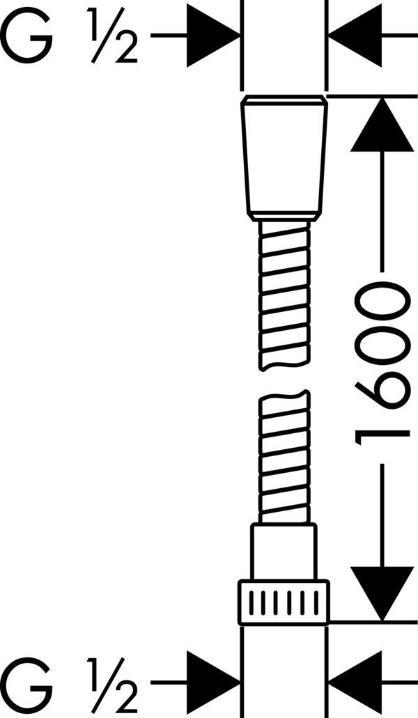 Душевой шланг Hansgrohe Metaflex 28266000