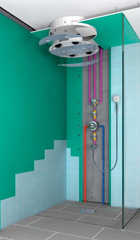 Верхний душ Hansgrohe Raindance Rainmaker 28404000 с подсветкой